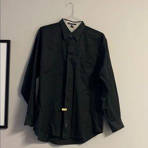 Port authority size large black dress shirt